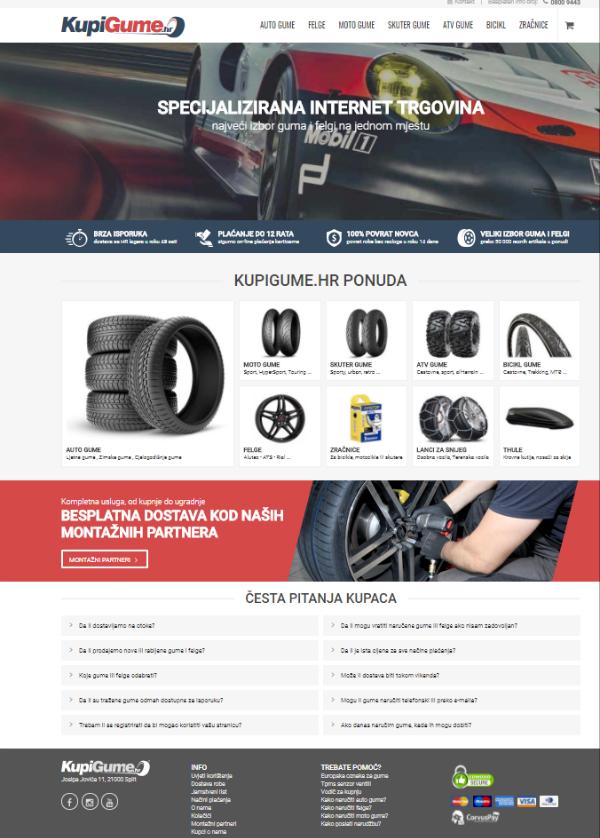 KupiGume hr homepage