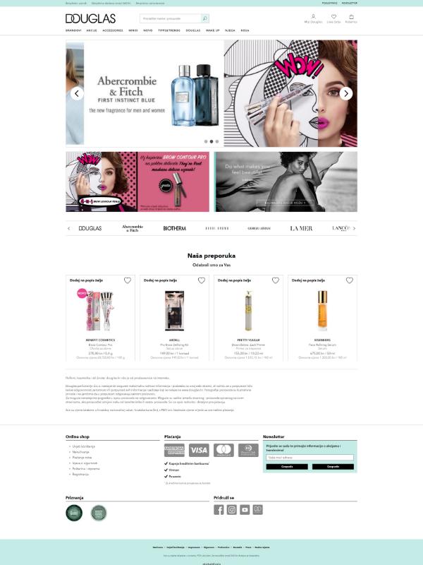 Douglas webshop